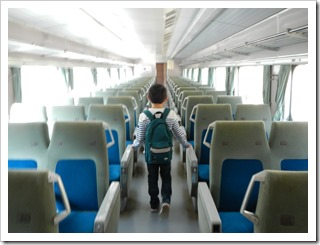 昼間見た0系新幹線の内部